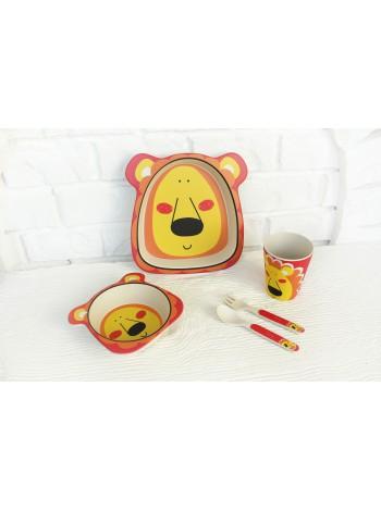 """Набор бамбуковой посуды """"Львенок"""""""