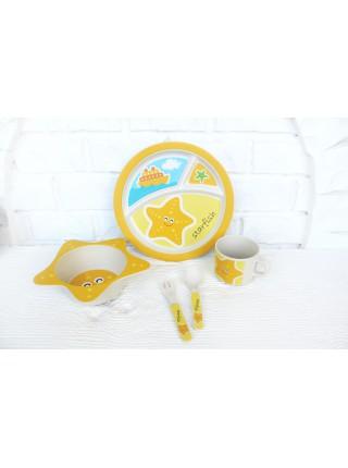Набор бамбуковой посуды Морская звезда