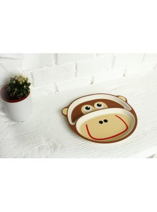Бамбуковая тарелка Обезьянка