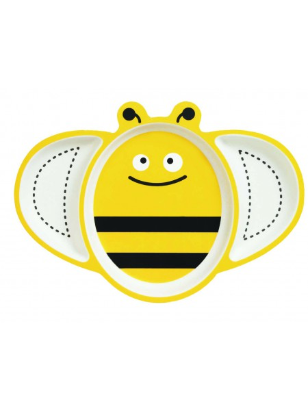 Бамбуковая тарелка Пчёлка