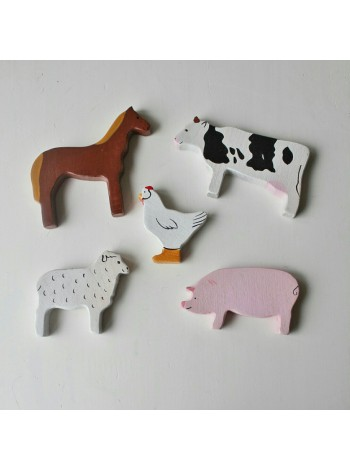 Набор домашних животных из дерева 5 шт.