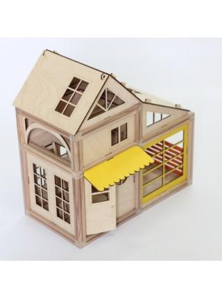 Деревянный магнитный домик Medium (69 элементов)