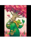"""Деревянный пазл """"Зеленый медведь"""""""