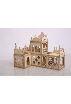 Магнитный деревянный конструктор Arabic