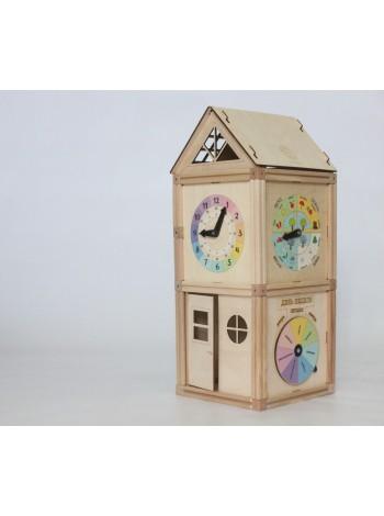 """Деревянный магнитный домик """"Часовая Башня"""""""