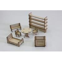 Деревянный набор мебели