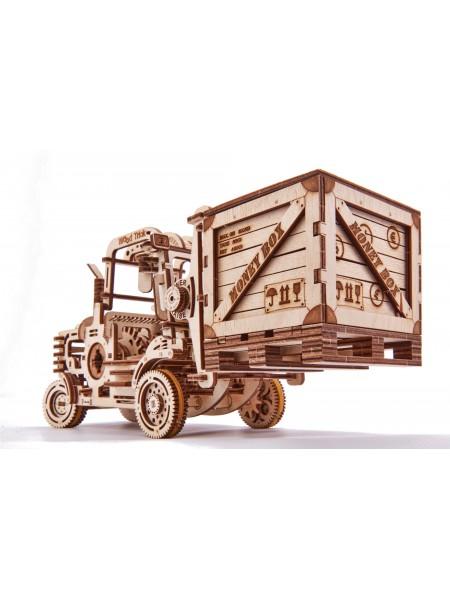 Движущийся механический 3D-пазл из дерева Погрузчик