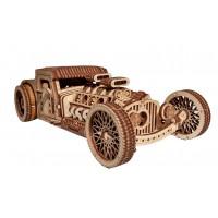 Механический 3D-пазл из дерева автомобиль Хот Род