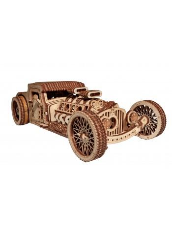 Движущийся конструктор из дерева автомобиль Хот Род