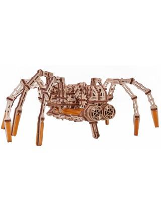 Механическая движущаяся сборная деревянная модель Космический Паук