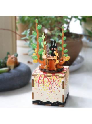 Деревянный 3D конструктор - музыкальная шкатулка Весна