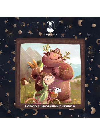 """Деревянный пазл """"Весенний пикник"""""""