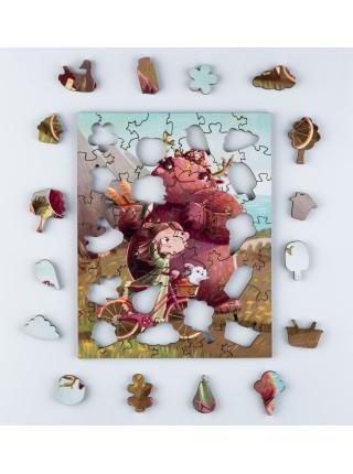 Деревянный пазл-головоломка Весенний пикник