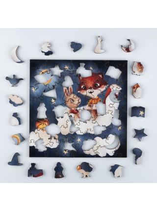 Деревянный пазл-головоломка Волшебные сказки