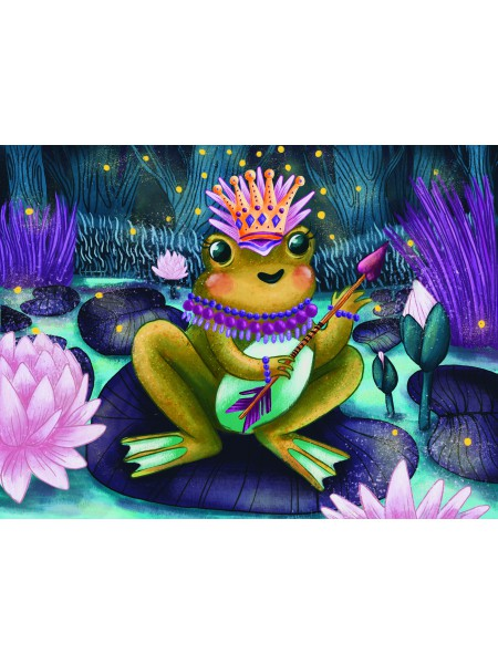 Деревянный пазл-головоломка Царевна Лягушка