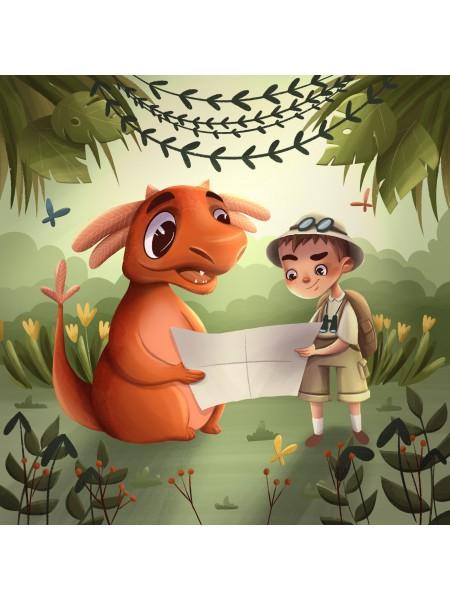 Деревянный пазл-головоломка Приключение Гоши и Тоши